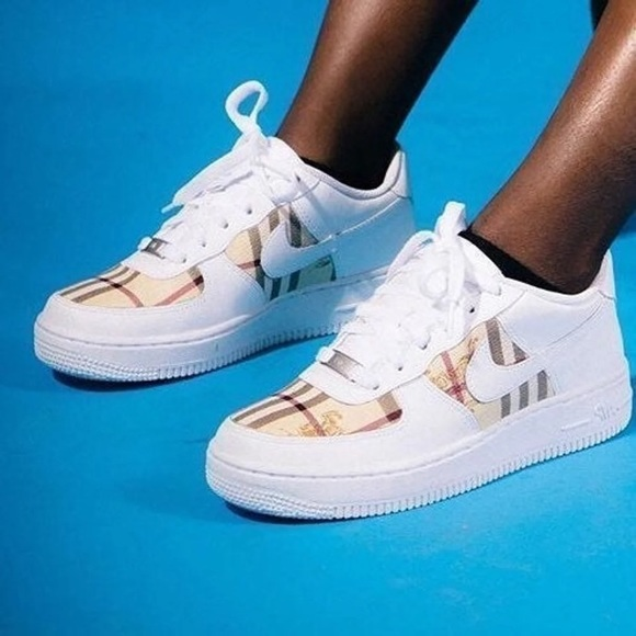 air force 1 custom burberry